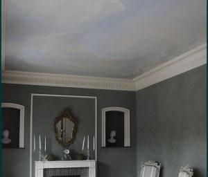 speciale schildertechnieken: wolken plafond